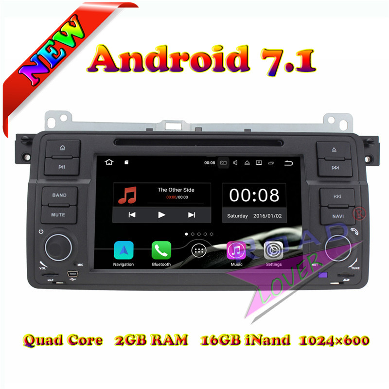 TOPNAVI 2G+16GB Android 7.1 Car PC DVD Player For BMW 3 Series E46/M3 (1998 2006)/MGZT 7/Rover 75 (2001 2004) Stereo GPS Navi