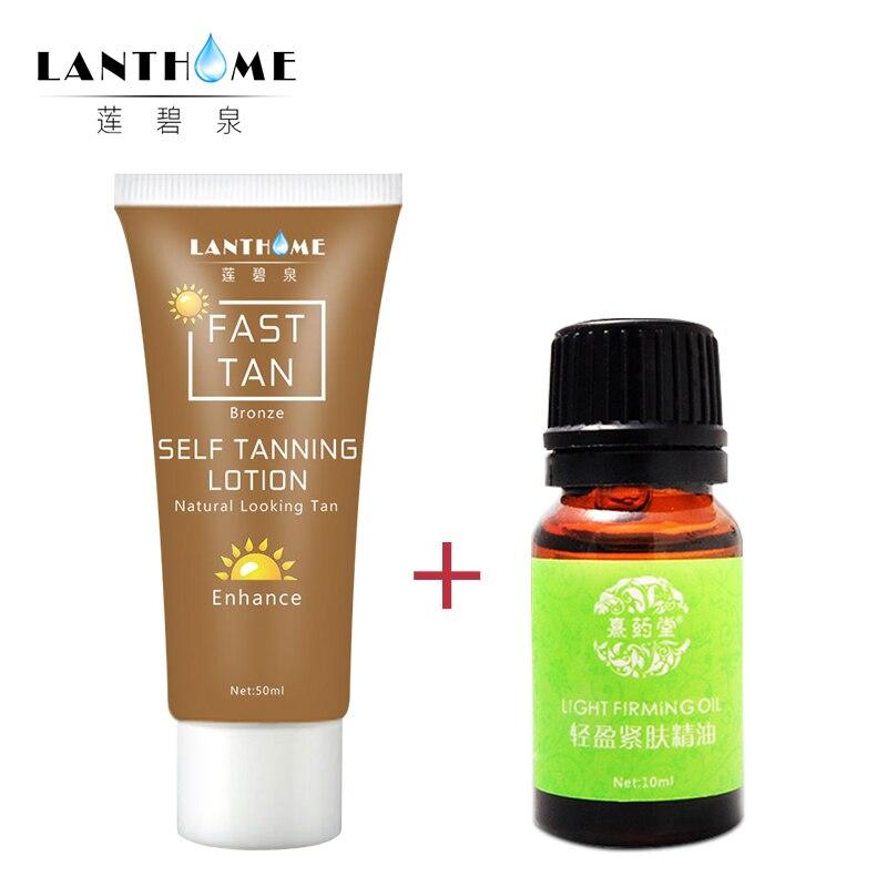 Bronze Self Sun Tanning Enhance Lotion Day Tanning Cream In Body Natural Lotion Suntan Cream +Firming Oil Thin Leg Waist