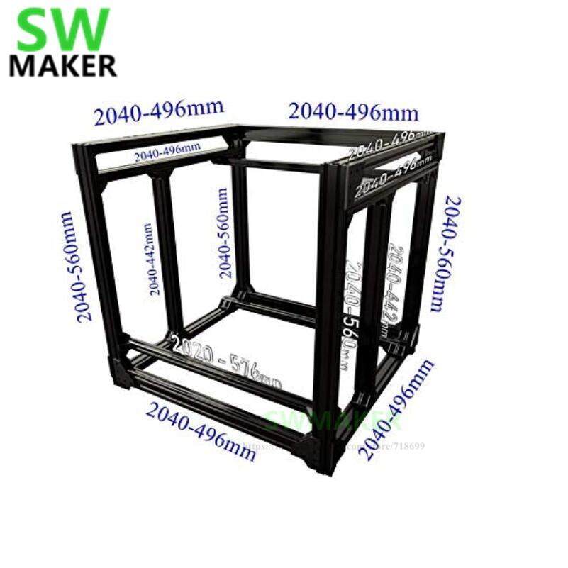 BLV mgn Cube 3D Printer Aluminum Extrusion Frame Full Kit w/ Nuts Screw Bracket Corner F/ CR 10 365mm Z height Free shipping