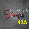Unidirectional 40A 2S3S4S5S6S Lithium Remote Control Plane Remote Control Brush ESC Speed Controller
