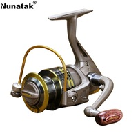 Nunatak NEW Fishing Reel Metal Aluminum Spool 12BB Gear Ritio 5 5 1 Fishing Reel Wooden