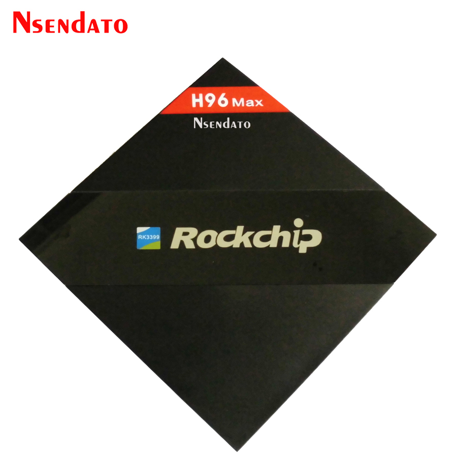 H96 Max 4GB 32GB Rockchip RK3399 Six Core Android TV Box 2.4G 5.8G Dual WiFi H.265 Bluetooth 4.0 H.265 4K Media player TV Boxes portable mini wifi hotspot w usb 2 0 port strap black