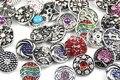 10 pçs/lote Mix de Alta qualidade Muitos estilos 18mm de Metal Botão Snap moda Charme Strass Estilos relógios Botão Snaps Jóias