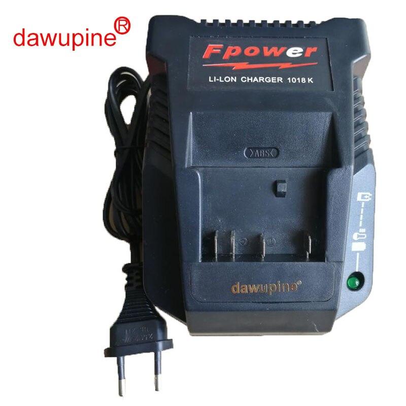 dawupine 1018K Charger For Bosch Electrical Drill 18V 14.4V Li-ion Battery BAT609 BAT609G BAT618 BAT618G BAT614 2607336236