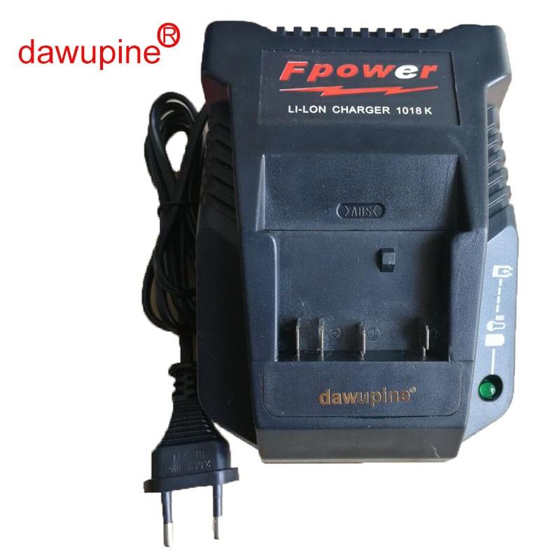 Dawupine 1018 k Chargeur Pour Bosch Perceuse Électrique 18 v 14.4 v Li-ion Batterie BAT609 BAT609G BAT618 BAT618G BAT614 2607336236