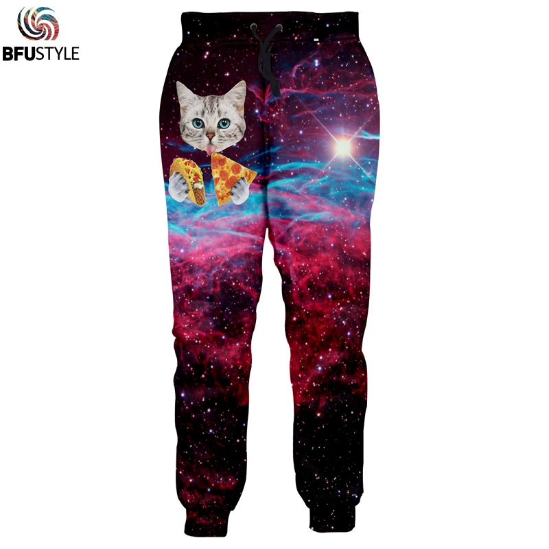 3D Cat Space Galaxy Joggers Broek Heren 2019 Mode Kleding Pantalon Homme Casual Losse Broek Merk Swearpants Dropship