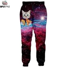 3D Cat Space Galaxy Joggers Pants Men 2019 Fashion Clothing Pantalon Homme Casual Loose Trousers Brand Swearpants Dropship