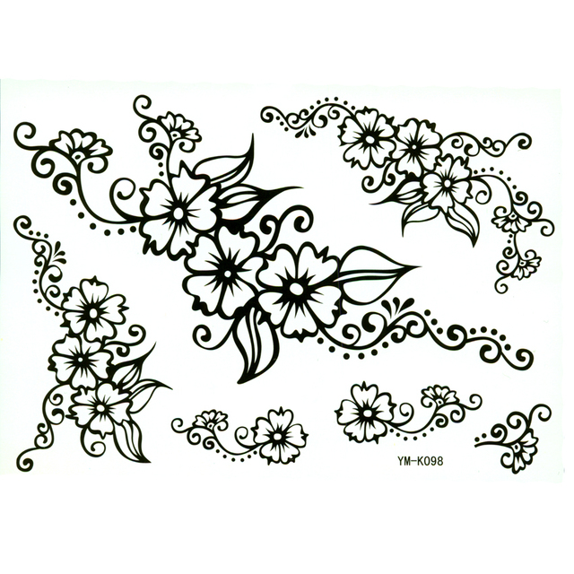 a34aec078 Flowers temporary tattoo sticker waterproof t tatuajes temporales tatoo  tatouagem henna tattoo maquiagem pesca tatto sticker