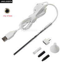 JINGLESZCN 4 9mm Lens Medical USB Endoscope For OTG Android Phone PC Borescope Inspection Otoscope Endoscope