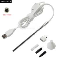 JINGLESZCN 4 9mm Lens Medical USB Endoscope For OTG Android Phone PC Borescope Inspection Otoscope Endoscope