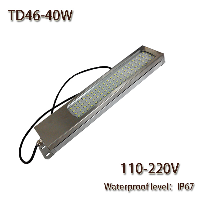 HNTD 40W Led Panel Light 110V/220V AC LED Metal work light CNC machine work tool lighting TD46 Waterproof IP67 Free shipping