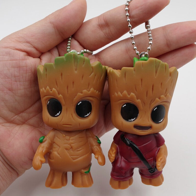 New Cute Movie Guardians Of The Galaxy Mini Baby Tree Model Action And Toy Figures Cartoon Pendant Dolls Toy Best Gifts For Gift long cable winder cute cartoon animal headphone earphone organizer wire holder action toy figures set