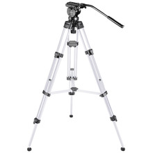 Neewer Pro Video Camera Tripod 61 inches  Aluminum Alloy with 360 Degree Fluid Drag Head Quick Shoe Plate Bubble Level (Silver)