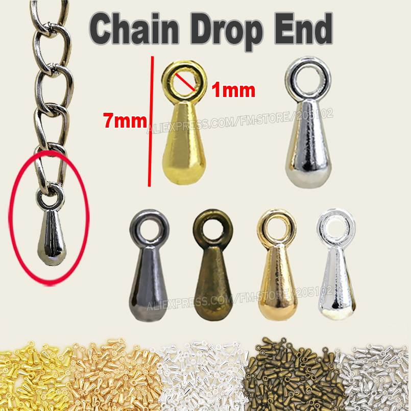200pcs/lot NICKLE FREE Extension Chain Drop End to attach on the chains for DIY Jewelry Necklace Bracelet Finding part Accessory 200pcs lot 2sa950 y 2sa950 a950 to 92 transistors