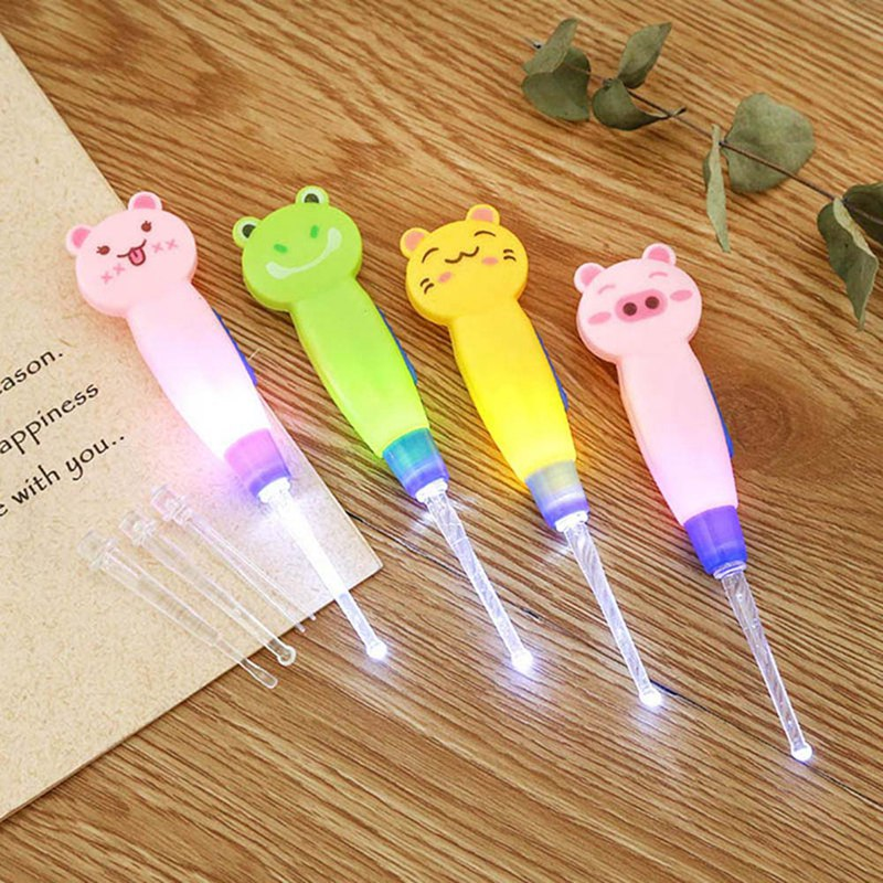 Baby Care Ear Spoon Light Child Ear Cleaning With Light Wholesale Earwax Spoon Digging Luminous Dig Ear Syringe