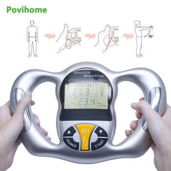 Povihome Monitor cyfrowy analizator tłuszczu LCD BMI miernik Tester masy ciała kalkulator kalorii pomiar narzędzia opieki zdrowotnej C1418 tanie i dobre opinie Tkanki tłuszczowej monitory