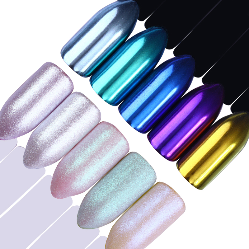 Image 5 - 1 Box Pearl Nail Glitter Shiny Mirror Matte Shell White Purple Blue Nail Art Pigment Dust Powder Manicure Nail Decorations-in Nail Glitter from Beauty & Health