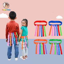 цены Happymaty Baby Toy For Children Funny Game Toy Belt For Kindergarten Kids Catching Tail Training Equipment Teamwork Game Toys