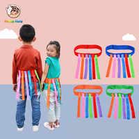 Happymaty brinquedo do bebê para crianças engraçado jogo cinto de brinquedo para o jardim de infância crianças captura cauda equipamento de treinamento em equipe jogo brinquedos