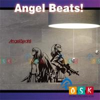Anioł impulsu z naklejki ścienne Angel Beats bicie serca Lihua Zhongcun odtwarzane przez powodu animacja naklejki