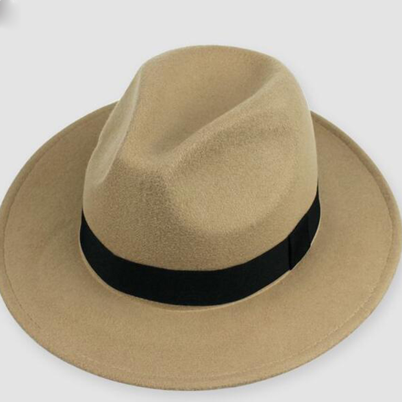 ZJBECHAHMU Fashion men fedoras women fashion Vintage jazz hat summer spring black woolen blend cap outdoor casual hat 2019 New in Men 39 s Fedoras from Apparel Accessories