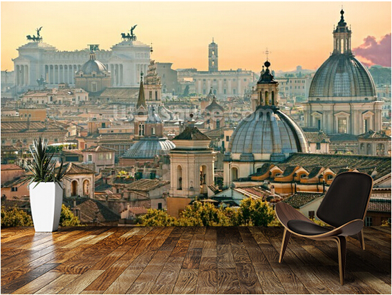 Personalizzato moderna carta da parati roma 3d retro for Carta da parati impermeabile