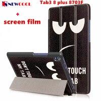 Tab3 8 Plus 8703F Flip Cover For Lenovo Tab3 8 Plus P8 TB 8703F Tablet Case