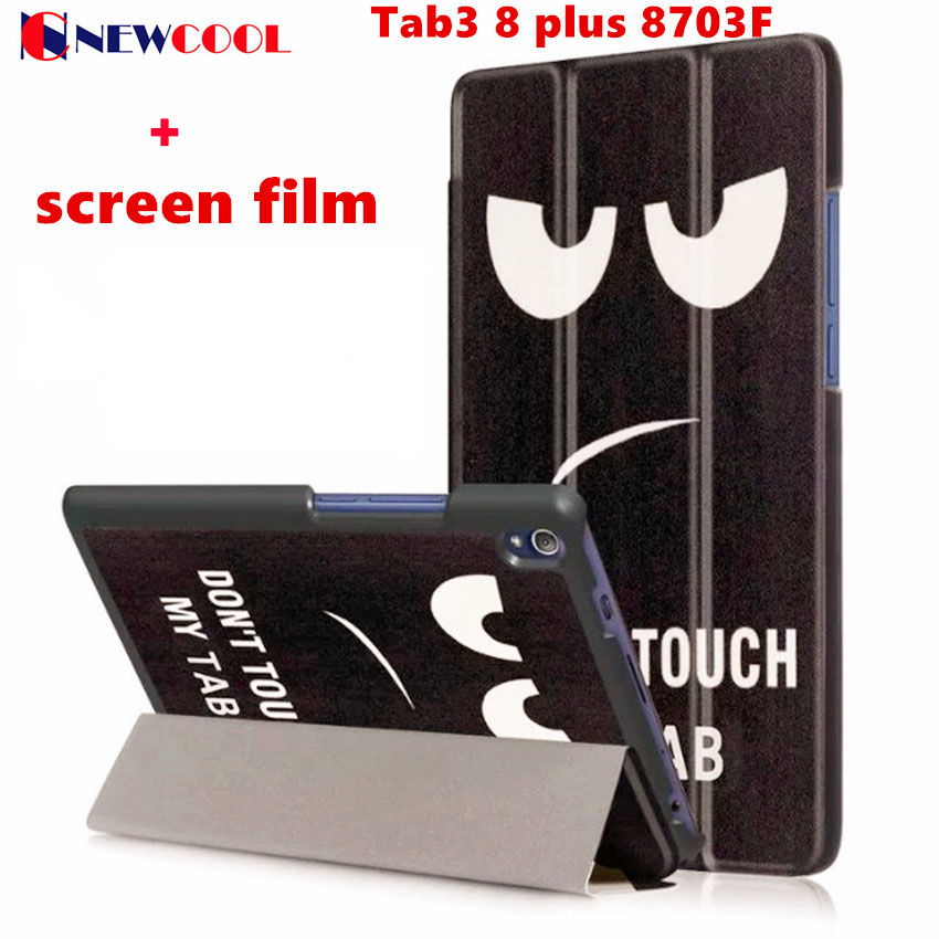 Tab3 8 plus 8703F Flip Cover For Lenovo Tab3 8 plus/P8 TB-8703F Tablet Case PU Leather Case Smart Cover Protective Shell skin luxury pu leather case for lenovo tab 3 8 plus 8inch tablet stand protective cover for lenovo p8 tb 8703f tab3 8 plus