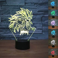 Nova Tabela de Dragon Ball Son Goku Super Saiyan Macaco 3D lâmpada LED Luminaria Night Lights iluminação Decorativa Humor Lâmpada grande presentes