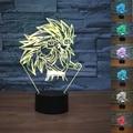 Nuevo Dragon Ball Super Saiyan Goku Mono 3D de Mesa lámpara de Luminaria LED Night Lights iluminación Decorativa Lámpara de estado de Ánimo gran regalos