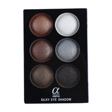 Alpha Brand 6 Colors Natural Glitter Makeup Eye Shadow Palette Cosmetics Smoky Eyeshadow Palette High Quality Wholesale