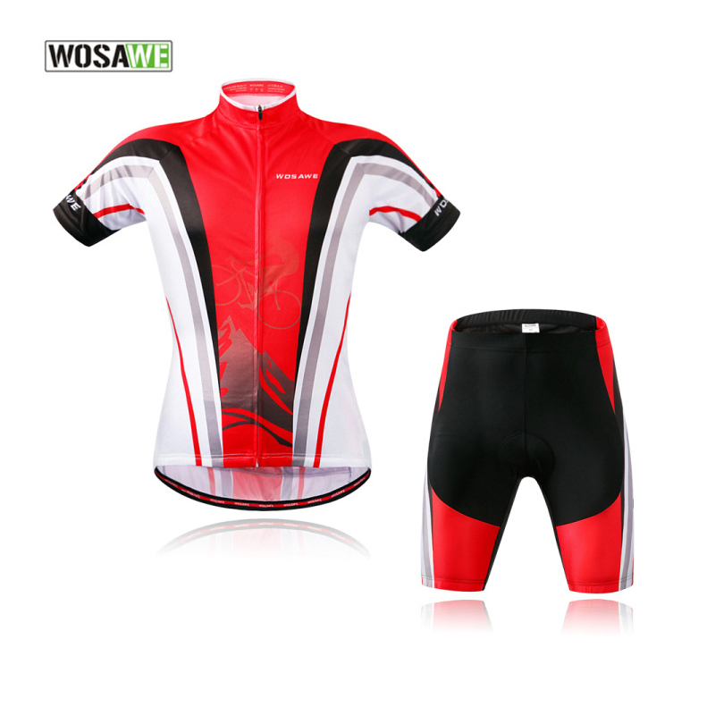 ФОТО WOSAWE Summer Cycling Sets Breathable,4D Gel Pad Cycling Jersey Short Men Red Cycling Clothing MTB Downhill Clothes Shirts 30