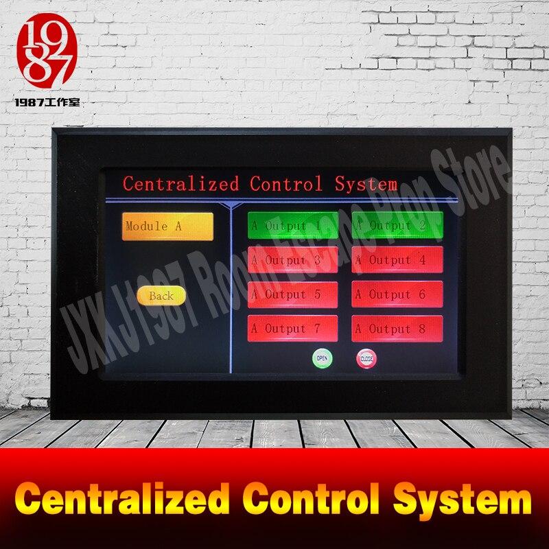 Le système de contrôle centralisé d'écran intelligent de puzzle d'évasion de pièce de vraie vie manipulent les accessoires électroniques centralisés pour des propriétaires jxkj1987