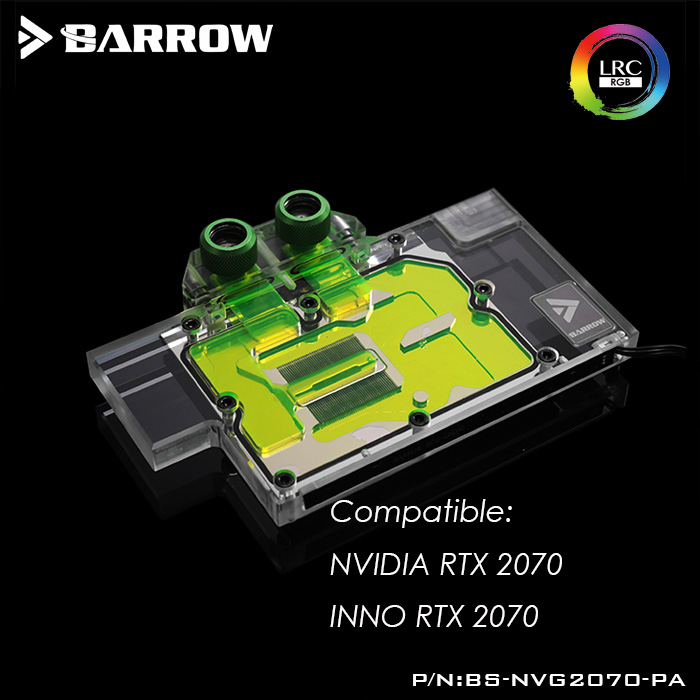 BS NVG2070 PA Barrow GPU Water Block for NVIDIA RTX 2070 INNO RTX 2070 computer case