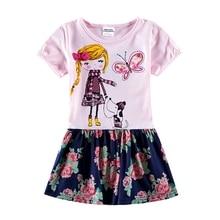 Girls Short Dress Children Dresses Flower Tutu Princess Kids Clothing Summer Clothes H7112