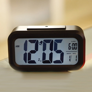 New Digital  8 colors LED Projector Alarm Clock Multi-function with Snooze+Blue/WHITE Backlight+Calendar clocksFree Shipping