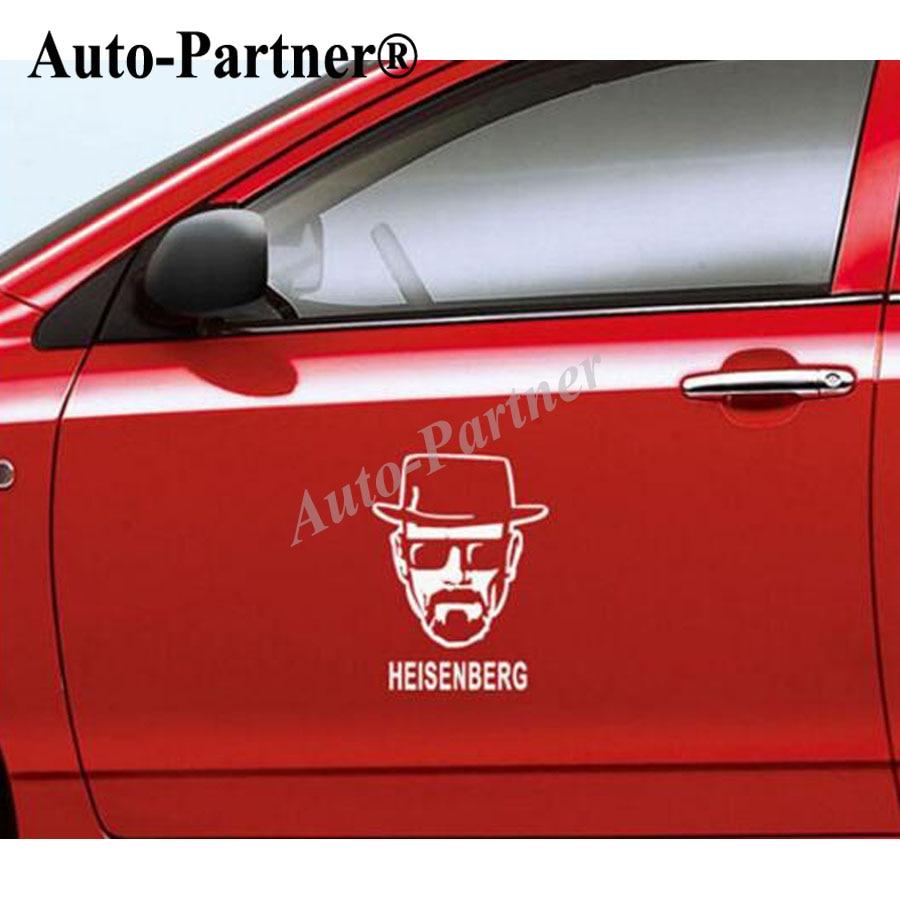 Car sticker design for white car - Car Styling Breaking Bad Car Self Adhesive Decals Auto Heisenberg Cartoon Walter White Body Sticker Design