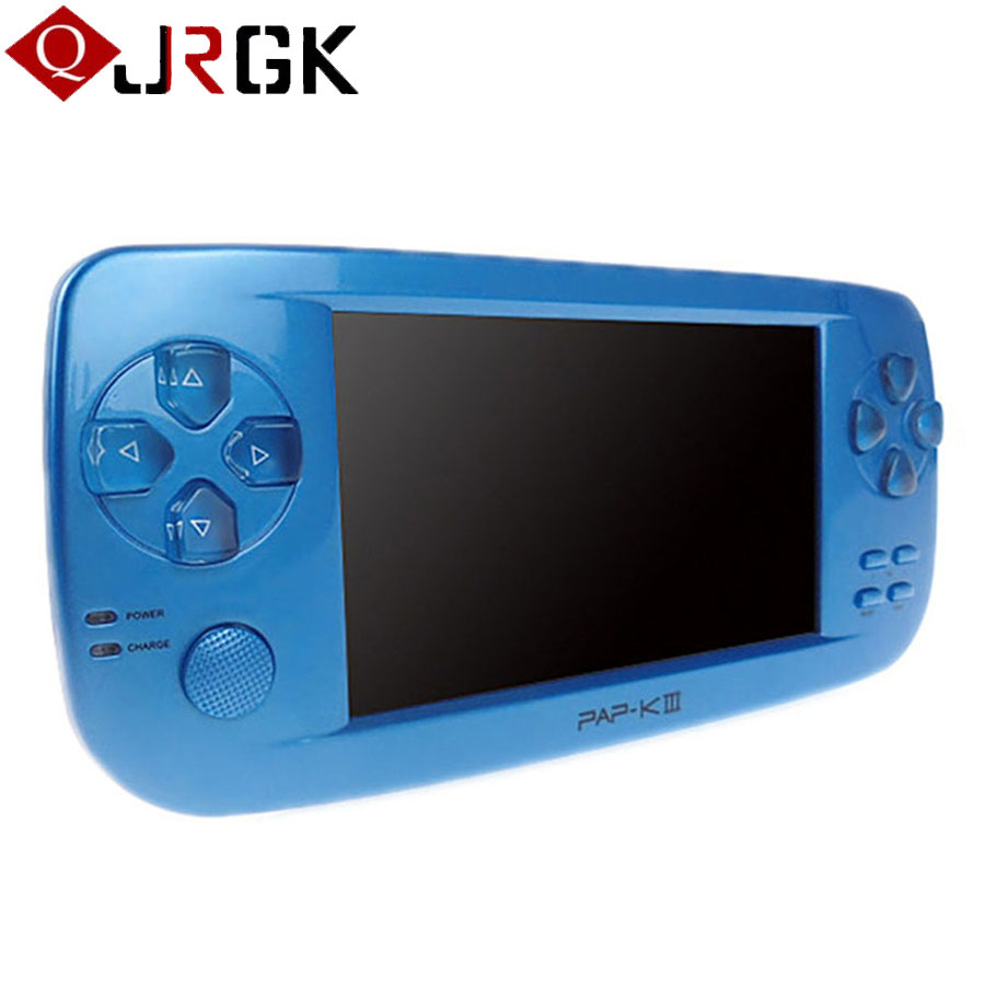 JRGK 4.3 Inch HD Color Game Console 32 Bit 4GB Portable Handheld Game Player With Camera Video 500+ Inner Game 2017 New Arrival image