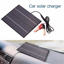 Portable Home 12V Car Camping Boat Battery Charger 5.2W Solar Panel + 5521DC Output CLH@8