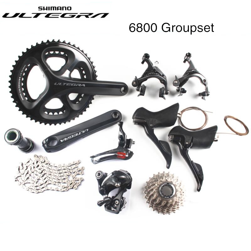Shimano Ultegra 6800 bici da strada della bicicletta 11 22 velocità grouspet aggiornamento Ultegra gruppo R8000 set 170mm 53-39 t 2x11 velocità Guarnitura 6810