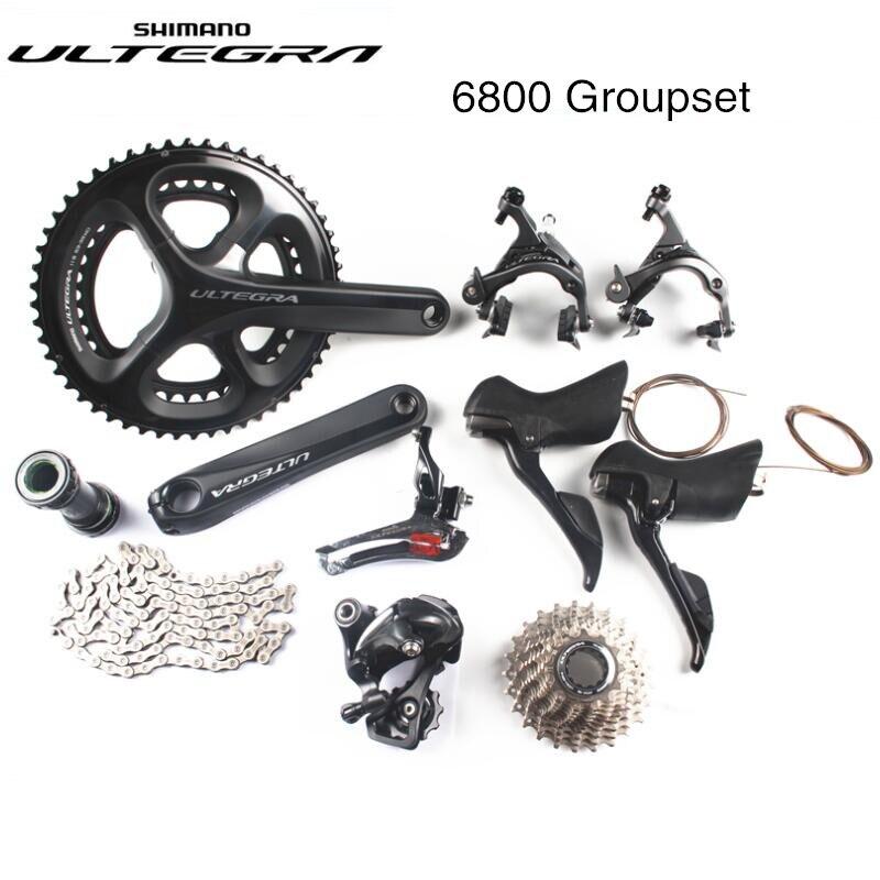 Shimano Ultegra 6800 vélo de route vélo 11 22 vitesse grouspet mise à jour Ultegra R8000 groupe 170mm 53-39 t Pédalier 2x11 vitesses 6810
