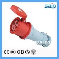 Naylon 66 400 V 63A Güç Soketi 4 P Su Geçirmez CE Onayı Endüstriyel Soket
