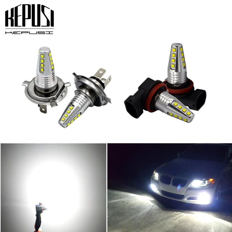 2X H4 H7 H11 <font><b>H8</b></font> H9 9005 9006 80W <font><b>cree</b></font> chip High Power Car <font><b>LED</b></font> Light Fog DRL Day running light Driving lamp 12V 24V White image