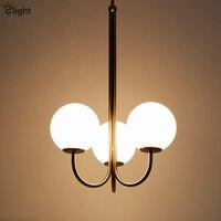 Nordic Minimalisme Borstel Goud Led Hanglamp Staaf Hanger Verlichting Luminarias Lamparas Binnenverlichting Voor Woonkamer-in Hanglampen van Licht & verlichting op