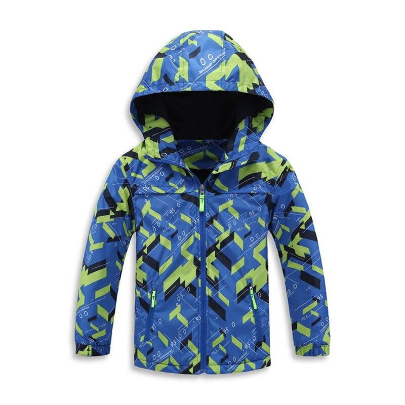 2017 флис Весенне-осенняя детская верхняя одежда теплая детская спортивная одежда водонепроницаемые ветрозащитные куртки для мальчиков для ...
