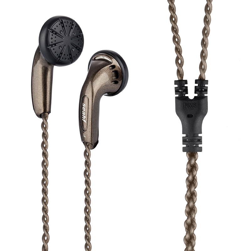 Seahf AWK-F650S 650ohm High Impedance In Ear Earphone Flat Head Plug earbuds 650 Ohms Hifi bass earphones observatory