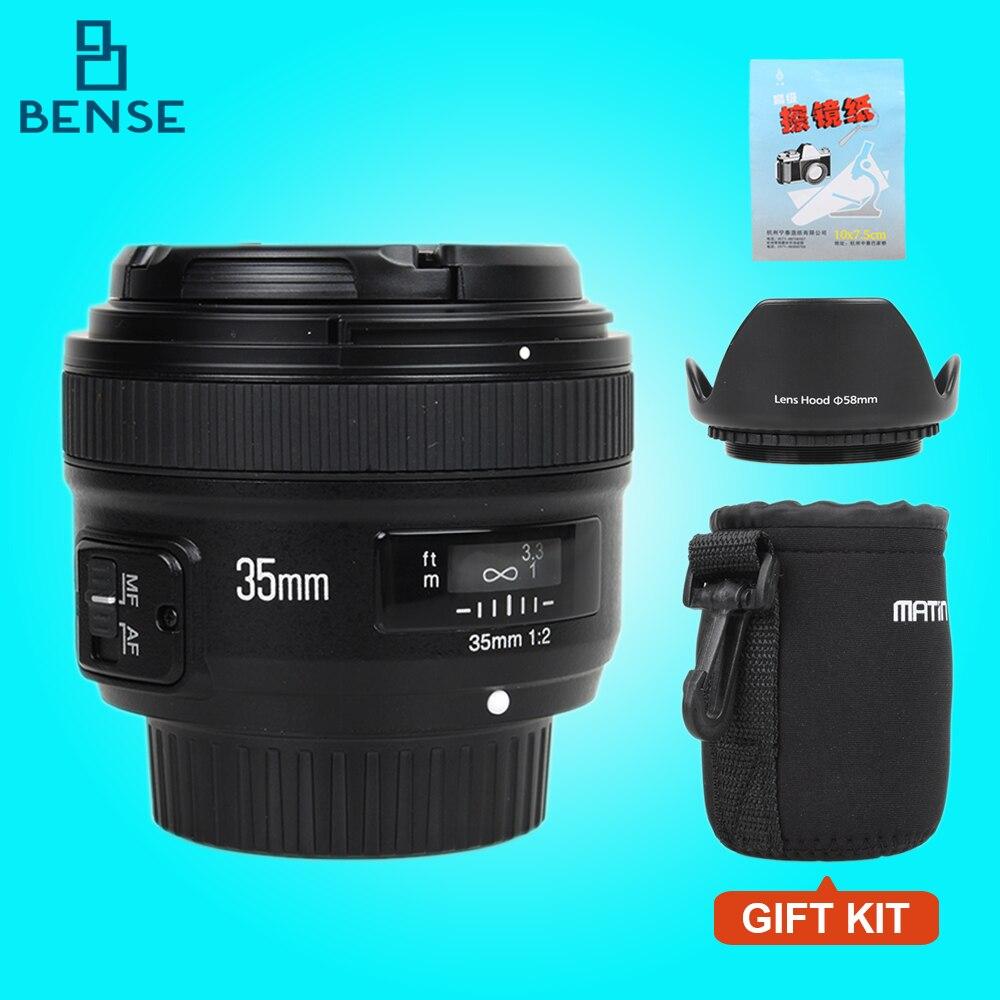 Prix pour Yongnuo YN35mm F2 objectif Grand-angle Grand Ouverture Fixe Mise Au Point Automatique lentille pour nikon D7100 D3200 D3300 D3100 D5100 D90 DSLR caméras