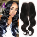 Grade 7A Peruvian Virgin Human Hair Lace Closures 3 Way Part Peruvian Lace Closure Bleached Knots Peruvian Body Wave Closure