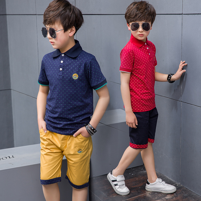 New 2019 Children's Kids Boys Summer Clothing Sets T Shirt And Shorts Sports Tracksuit For Boys Set 4 6  8 9 10 12 Years Old(China)