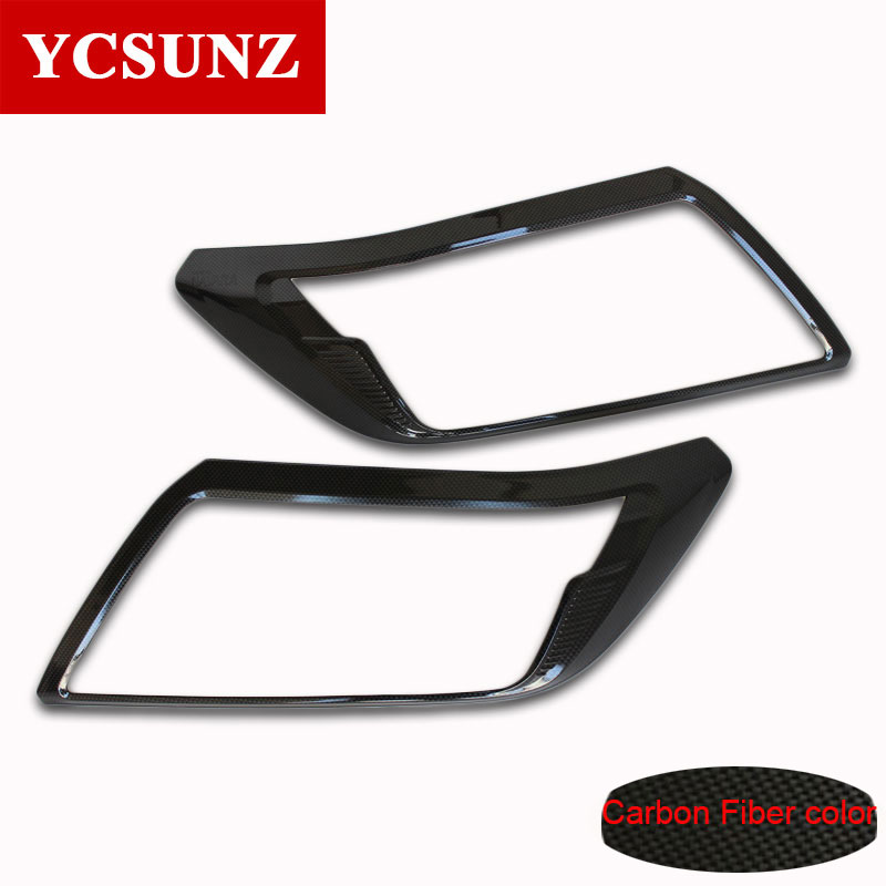 2014-2017 ABS Carbon Fiber Color For Nissan Navara NP300 Accessories Headlamp Cover Trim For Nissan Navara  Car Parts Ycsunz  цены